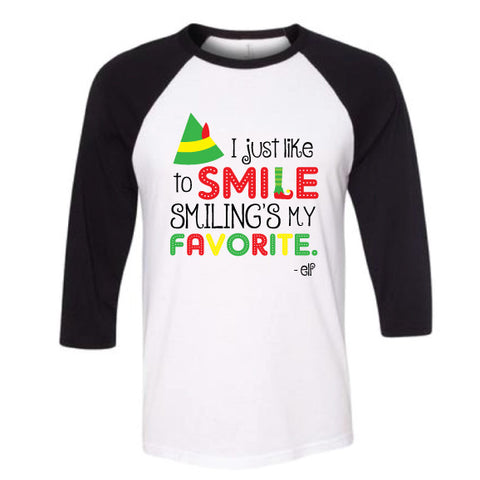 ELF SMILE Adult Raglan