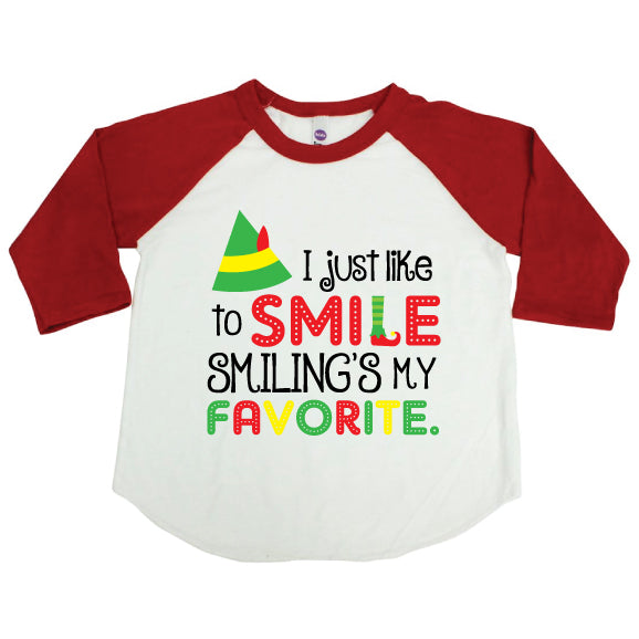 ELF SMILE Red Kid Raglan