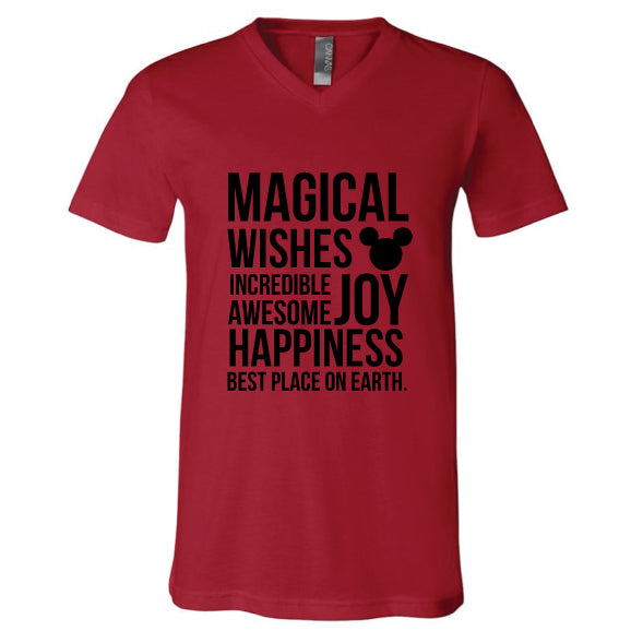 MAGICAL RED Unisex V-Neck Tee
