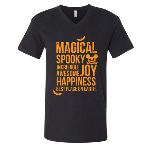 SPOOKY MAGICAL V-NECK TEE