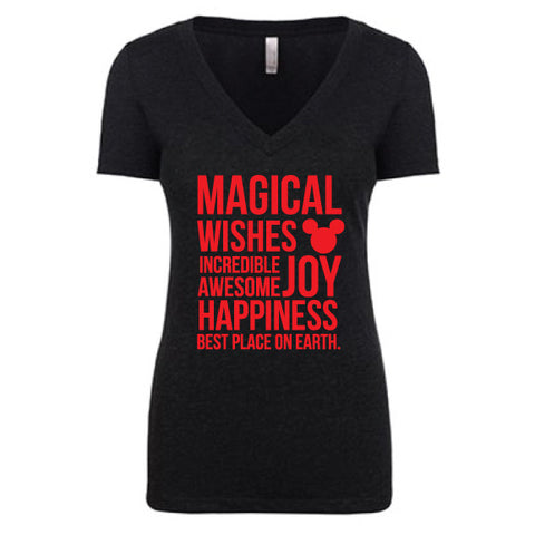 Magical Women's Black & Red Tee