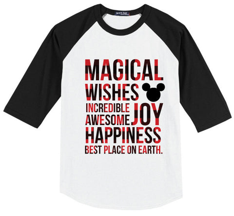 Magical Kidster Buffalo Plaid Raglan Limited Edition {Pre-Order}