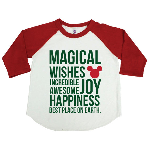 Magical Holiday Kids Raglan