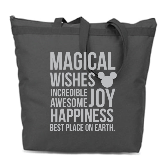 MAGICAL Black Zip Tote Bag {Pre-Order}