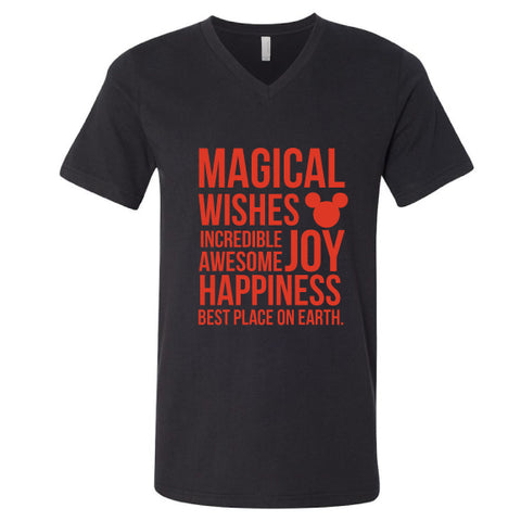 Magical Black Unisex V-Neck Tee
