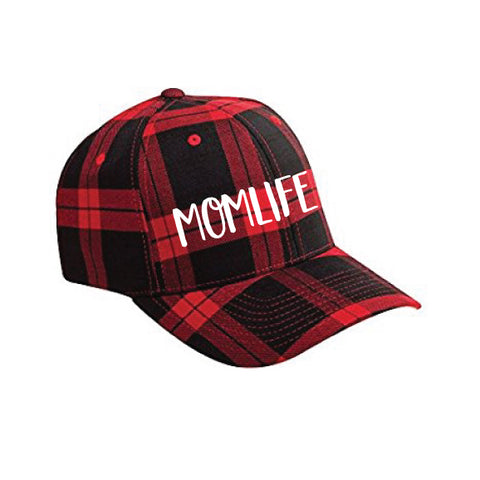 MOMLIFE™ Buffalo Plaid Flexfit Hat {Limited Edition}