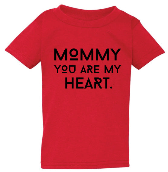 Mommy Heart Red Tee