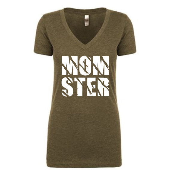 MOMSTER™ Military Green Tee