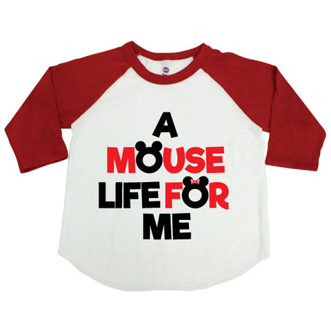 Mouse Life Kid Raglan