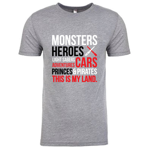 My Land MONSTERS Adult Tee