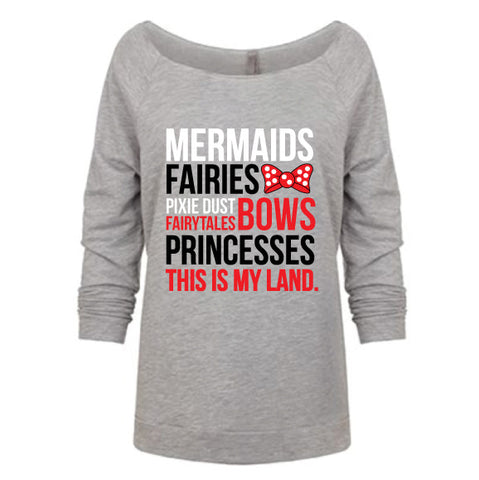 MY LAND MERMAIDS Raw Edge Pullover