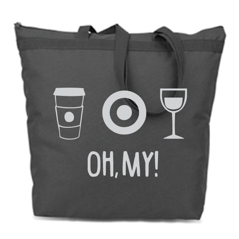 Oh, My! Black Zip Tote
