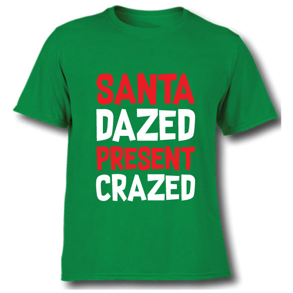 Santa Dazed Present Crazed Kids Tee