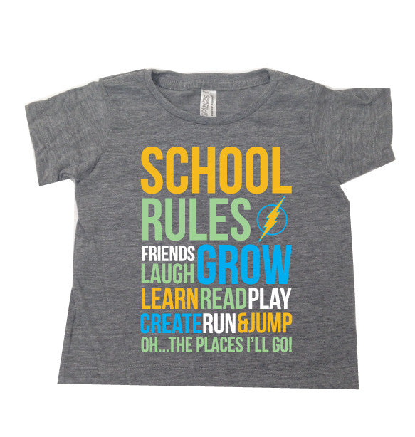 SCHOOL RULES Boy Tee