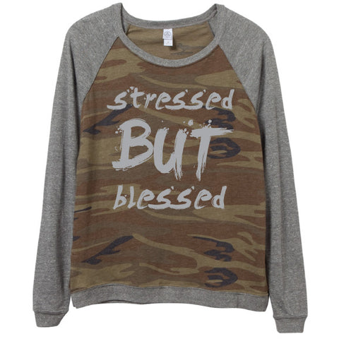 Stressed But Blessed™  Camo Pullover