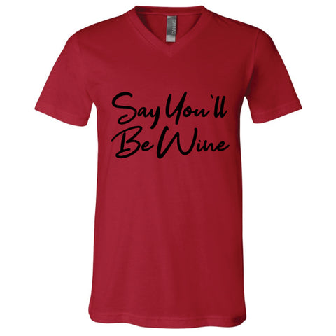 Be Wine Unisex V-Neck Tee