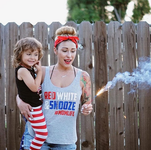Red, White & SNOOZE #MOMLIFE
