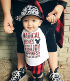 Magical Kidster Buffalo Plaid Raglan