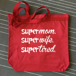 SUPER MOM RED TOTE