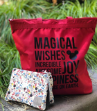 MAGICAL Red Zip Tote Bag