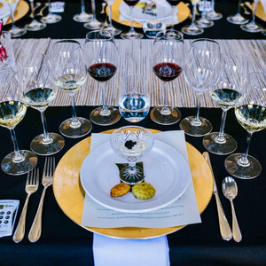 San Francisco Wine School's Anniversary Celebration & Scholarship Auction - VIP Food Pairing Competition Setting