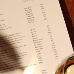 Wine List Development