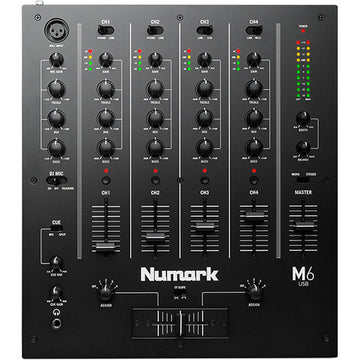 Numark M6 USB 4-Channel USB DJ Mixer (Black)