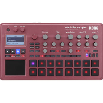 Korg Electribe Sampler Music Production Station with V2.0 Software (Red)