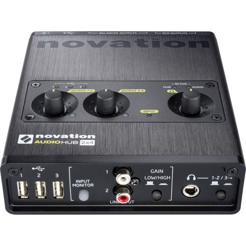 NOVATION Audio Hub 2x4 Audio Interface & USB Hub