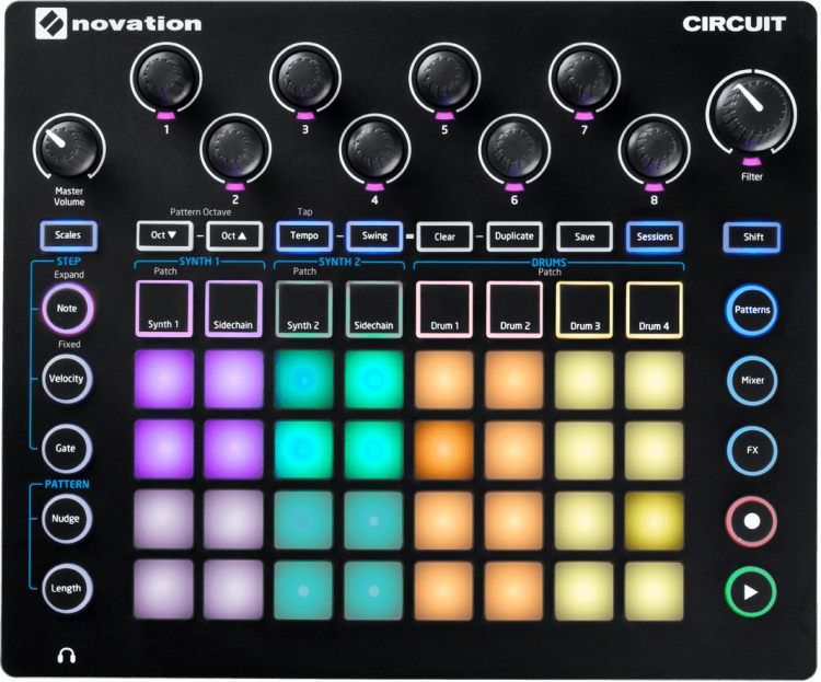 NOVATION CIRCUIT Groove Box - Synth & Drum Machine