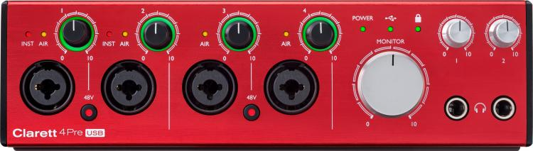 FOCUSRITE CLARETT 4pre-usb 18-in/8-out Usb Audio Interface