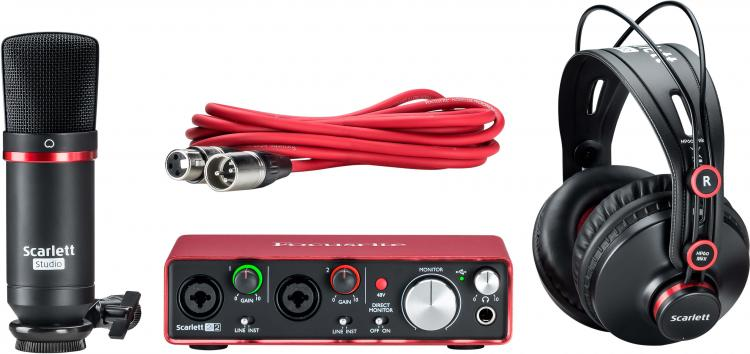 FOCUSRITE SCARLETT Studio Pack Mk2 Audio Interface Bundle
