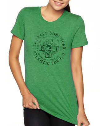 Emerald Surfwear Womens Atlantic Forged T-Shirt (Green)