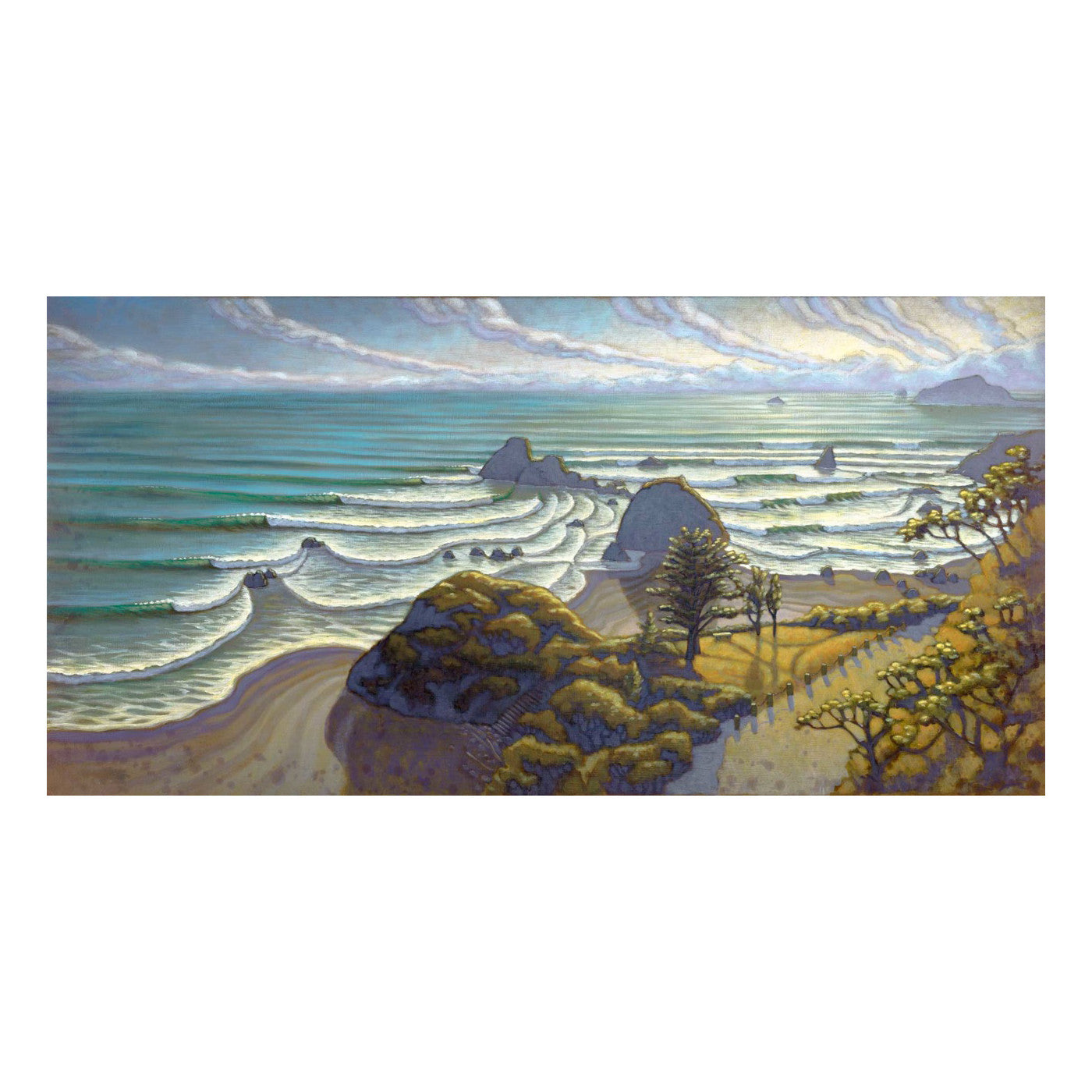 "Matt Beard Art Print ""Surf Check Daydream"""