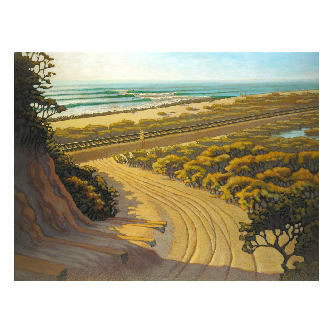 "Matt Beard Art Print ""The Low Road"""