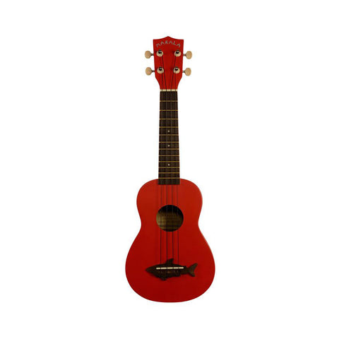 Kala Makala Shark Series Soprano Ukulele - Red Sea