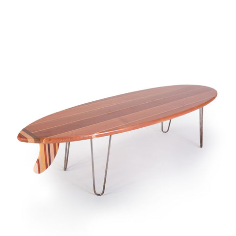 Surfboard Coffee Table (Redwood)