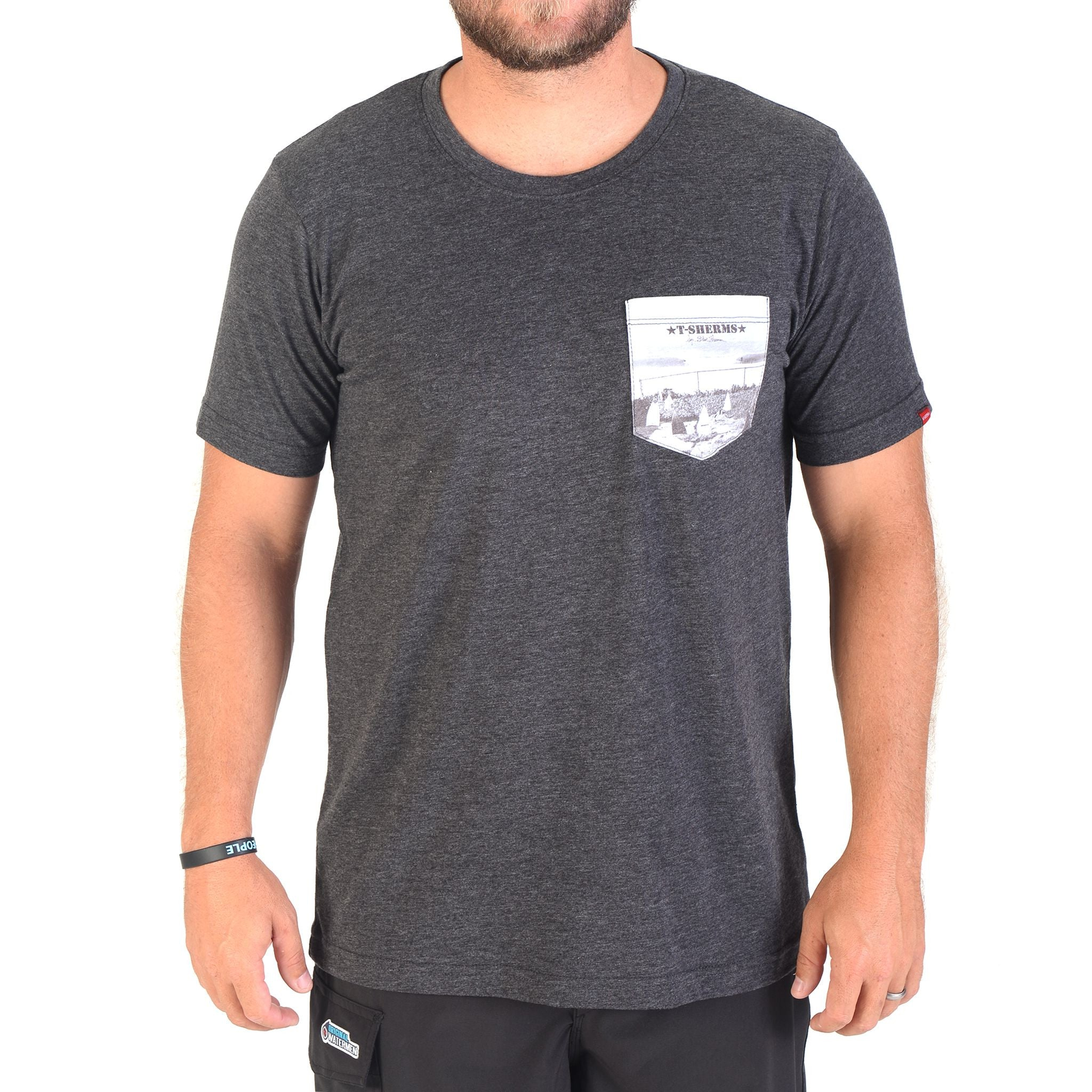 T-Sherms Graveyard Pocket T Shirt (Charcoal)