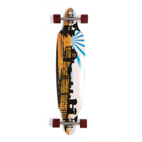 Bamboo O'Side Pier Longboard-Bottom