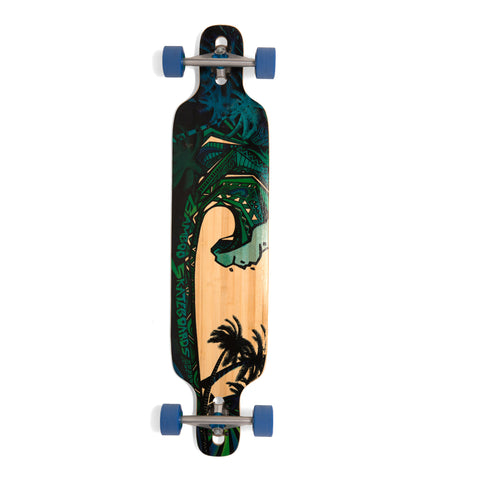 Bamboo Green Giant Drop Through Longboard-Bottom