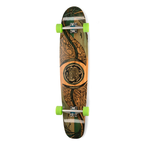 Bamboo Mirrored Sea Longboard-Bottom