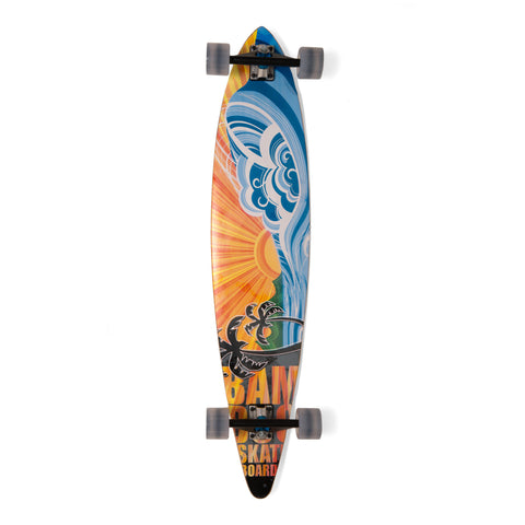 Bamboo Nirvana Pintail Longboard-Bottom