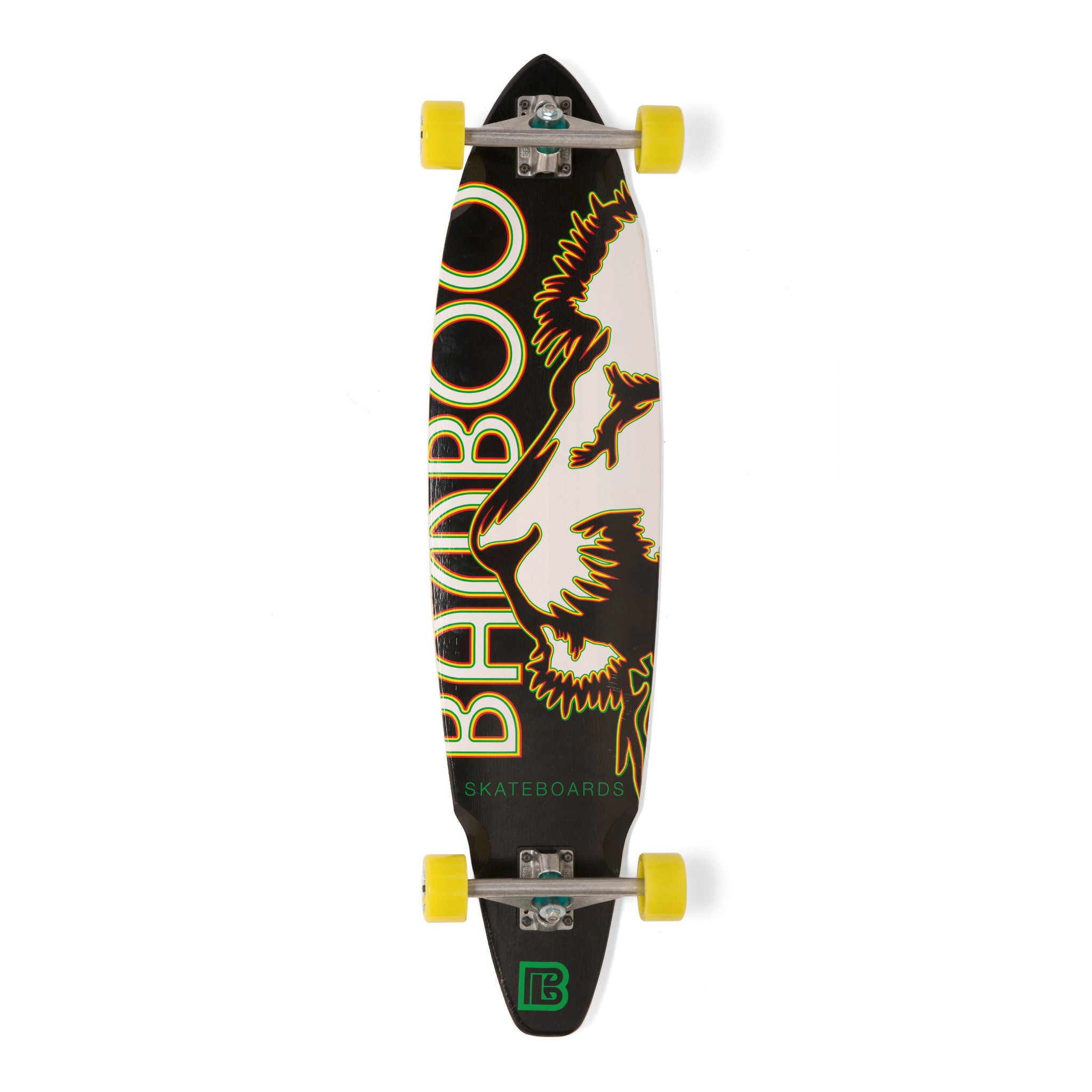 Bamboo Rasta Lion Longboard-Bottom