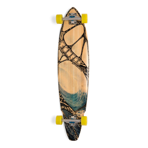 Bamboo Tidal Rider Square Tail Longboard-Bottom