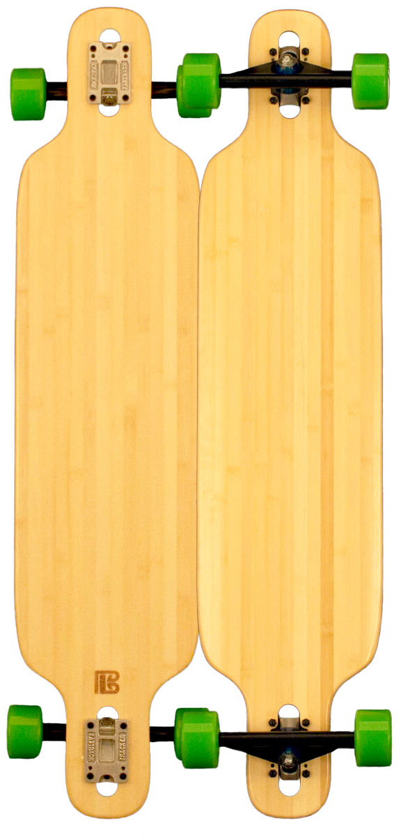 Bamboo Twin Tip Drop Through Blank Longboard
