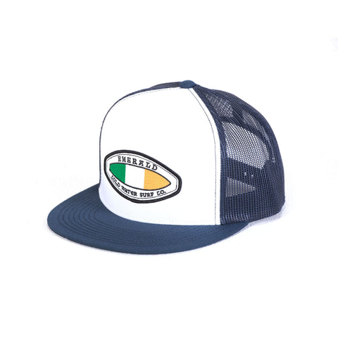Emerald Surfwear Trucker Cap (Blue & White)