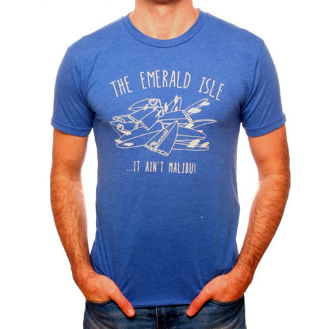6b083307ad2e Emerald Surfwear Broken Boards T-Shirt (Blue)