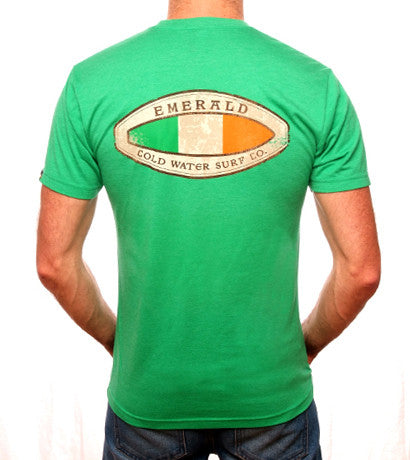 Emerald Surfwear Surfboard Flag T-Shirt (Green)