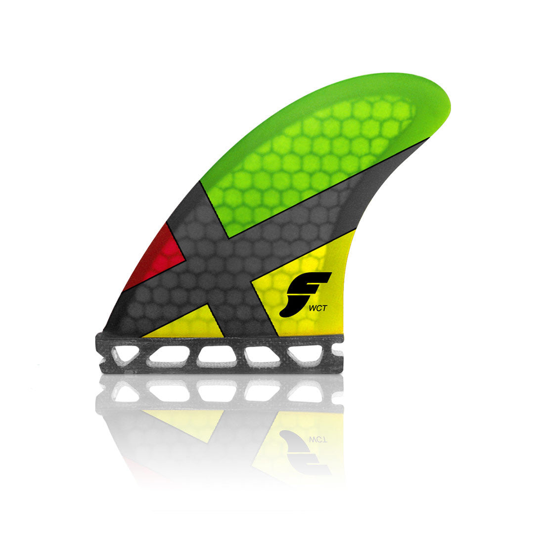 Futures Fins WCT Honeycomb Rasta Thruster Set (Medium)