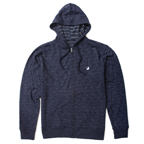 Wellen Surf Baja Zip Up Sweatshirt (Navy)